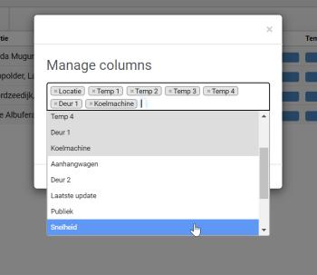 Manage columns adding