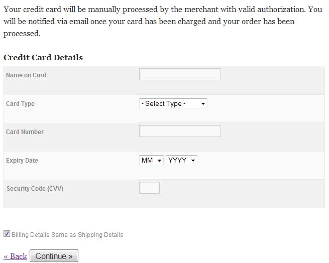 white card manual