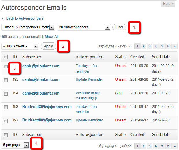 wordpress newsletter plugin autoresponder emails sectionautoresponder emails section