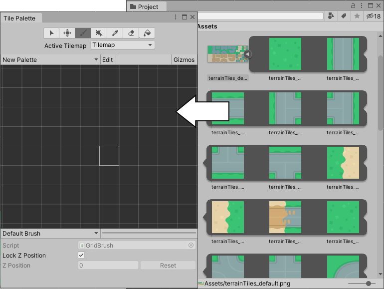 unity manual creating tiles