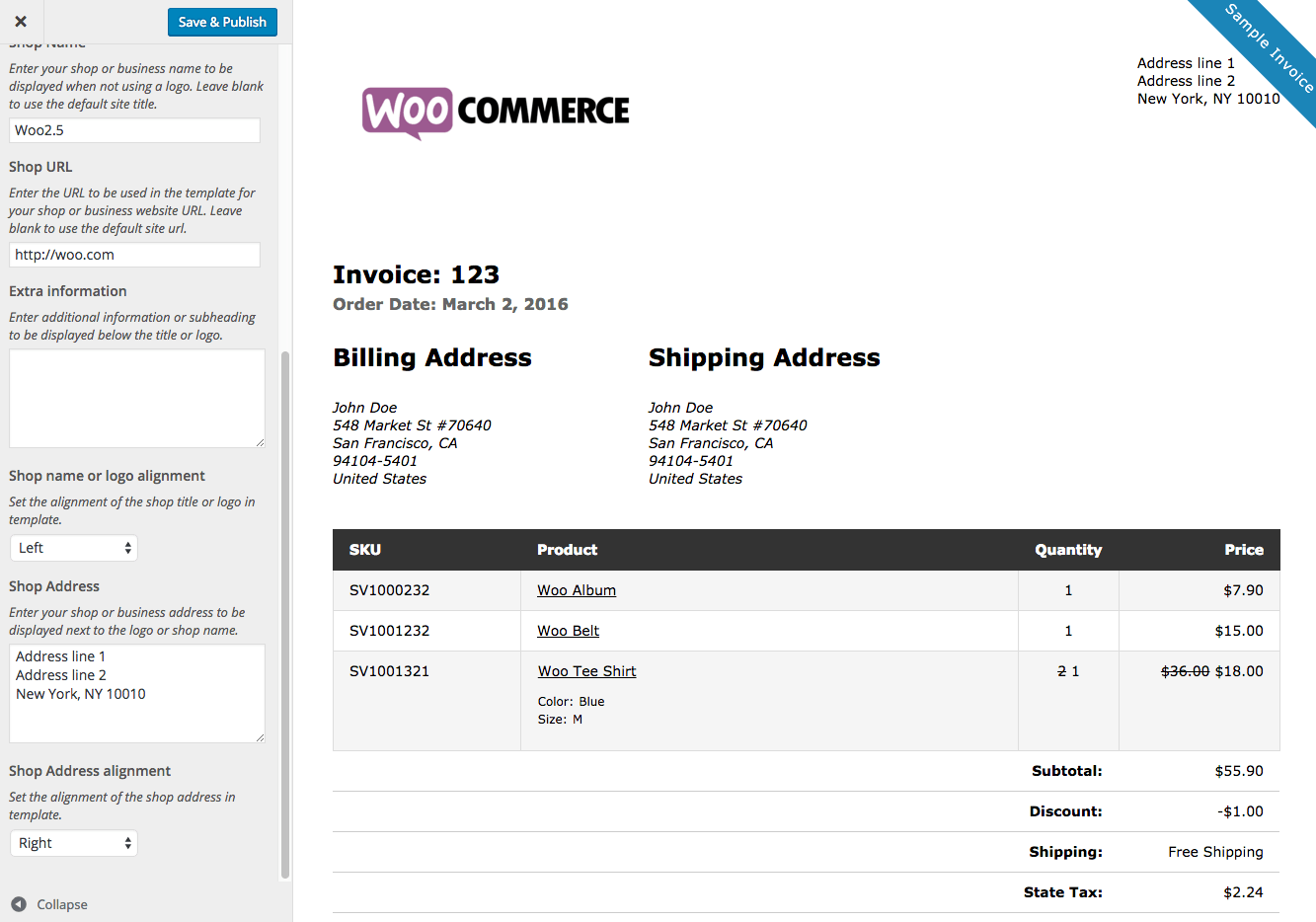 Woocommerce Print Invoices Amp Packing Lists