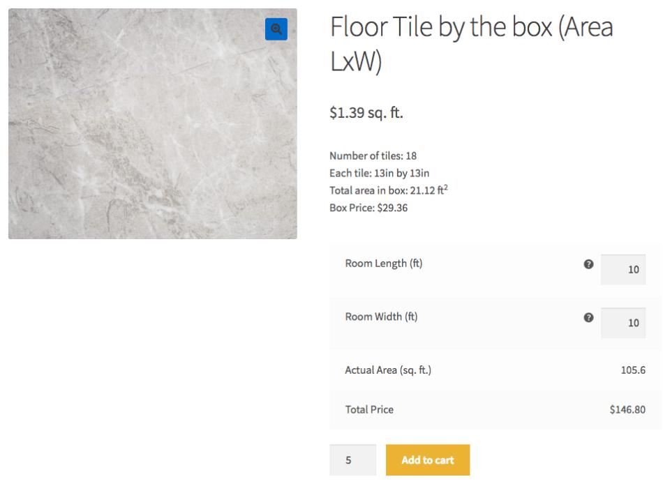 WooCommerce Measurement Price Calculator Quantity Mode product