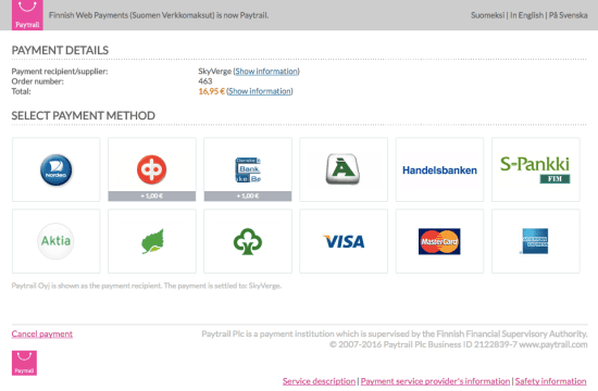 WooCommerce Paytrail Checkout Flow