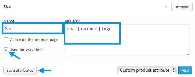 How to add Color and Size Buttons for variable products on WooCommerce store