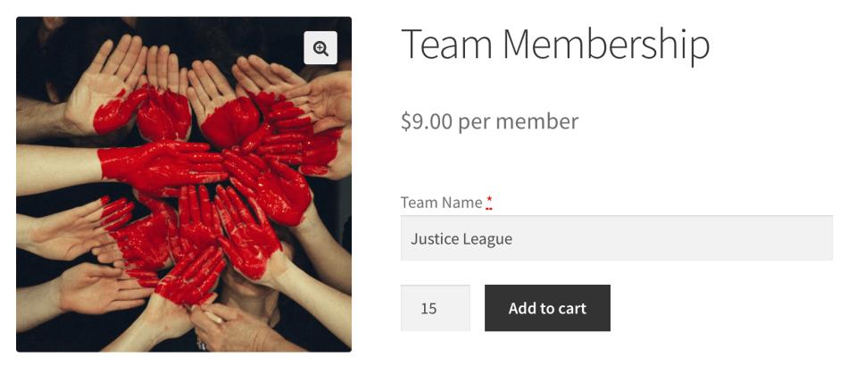 Teams for WooCommerce Memberships: Purchasing teams