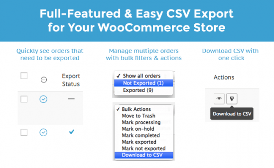 WooCommerce Customer / Order CSV Export Suite