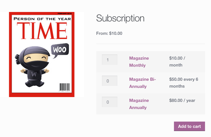 WooCommerce Subscriptions - Grouped Product