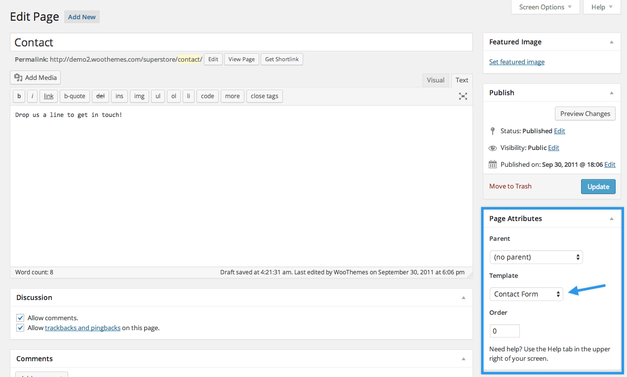 Contact-Page-Setting