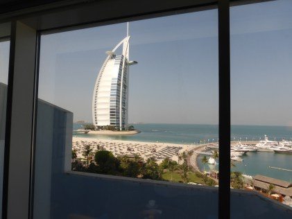 view from our room at the Jumeirah Beach Hotel