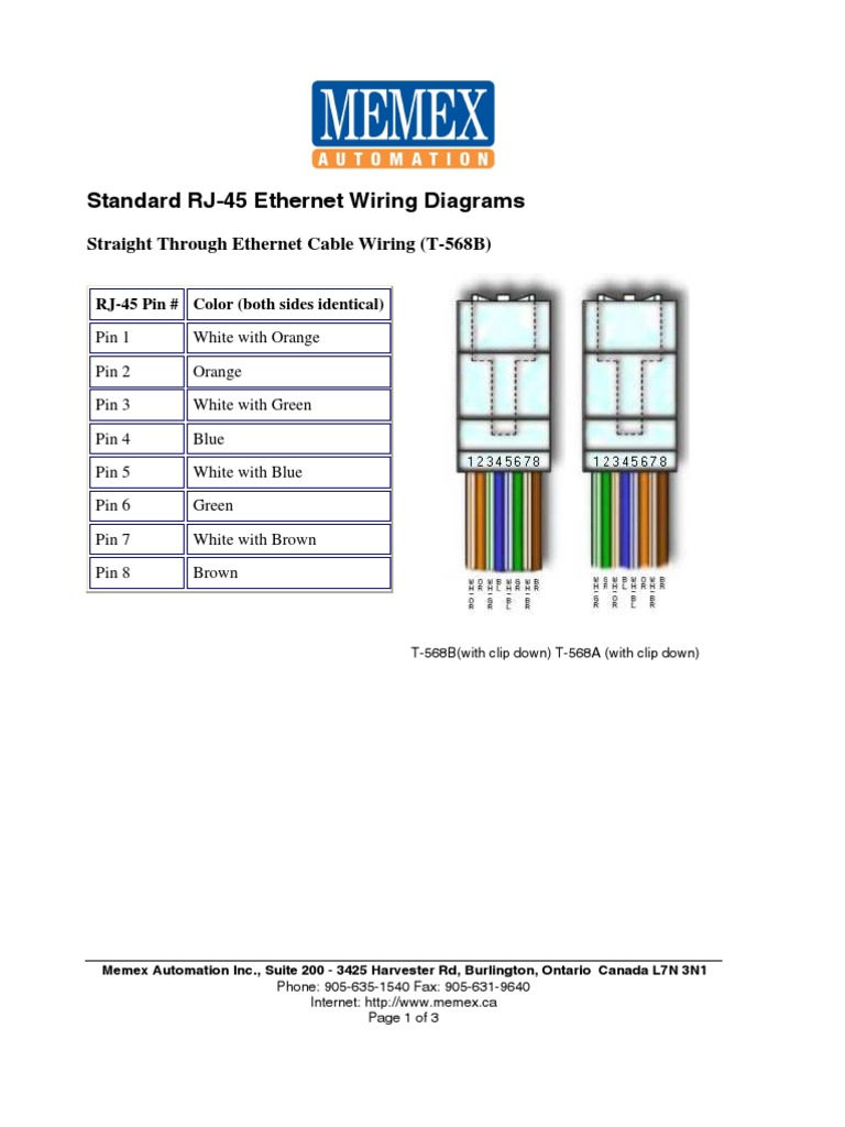 Rj45a Wiring Diagram Trusted Diagrams Rj45 Printable