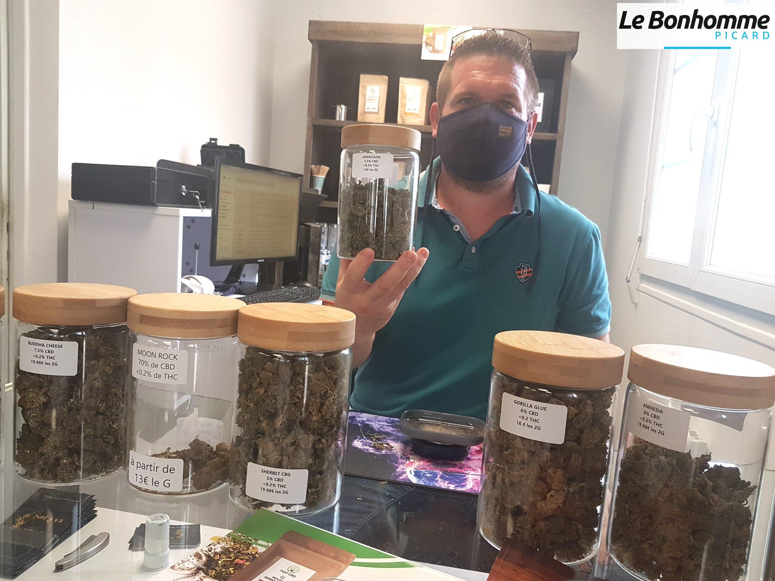 VIDEO. Saint-Just-en-Chaussée : Grégory présente sa boutique de CBD – Le Bonhomme Picard