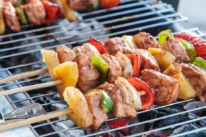 brochettes barbecue sain