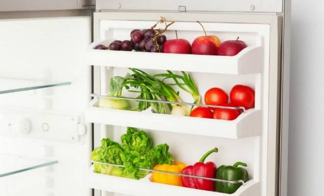 Alimentation saine réfrigérateur frigo
