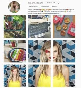 Compte Instagram Food et Nutrition