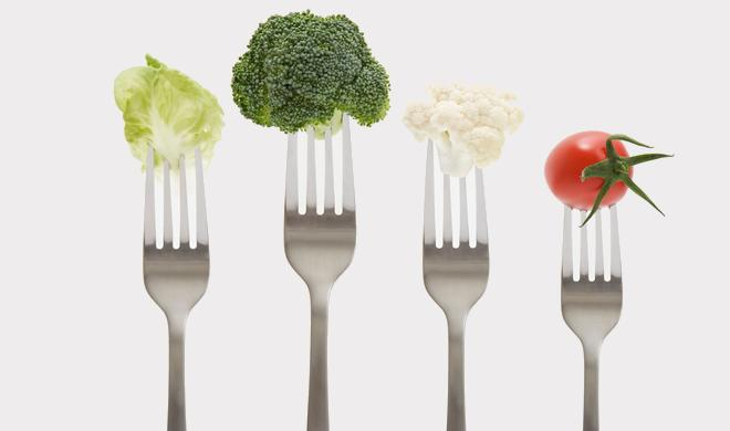 Manger des légumes fourchette santé