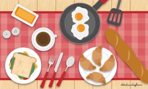 petit déjeuner sain et équilibré