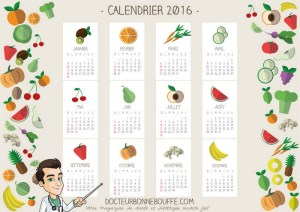 Calendrier 2016 de DocteurBonneBouffe.com a telecharger