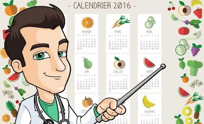 Calendrier 2016 de DocteurBonneBouffe
