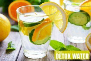 eau aromatisée orange et concombre
