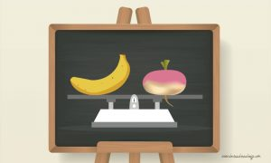 fruits ou légumes poids balance