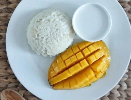mango sticky rice recette