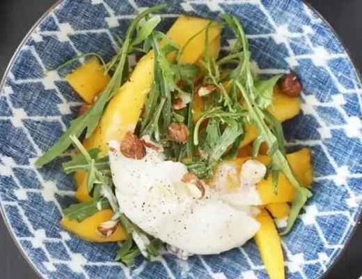 salade mangue burrata recette