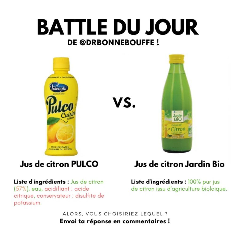 comparatif jus de citron en bouteille