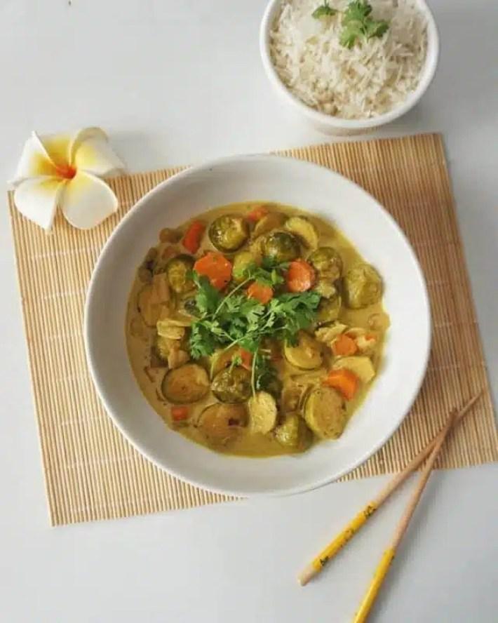 choux de bruxelles au curry recette