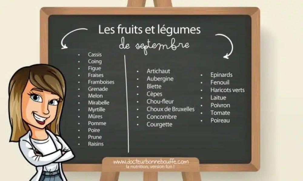 fruits et légumes septembre liste