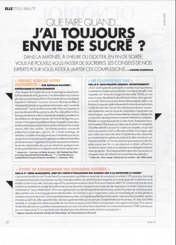 envie de sucré interview magazine elle