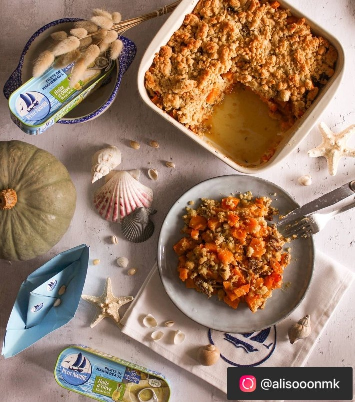 crumble légumes thon recette