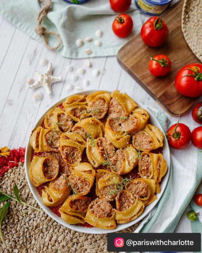pâtes farcies au thon en boîte recette