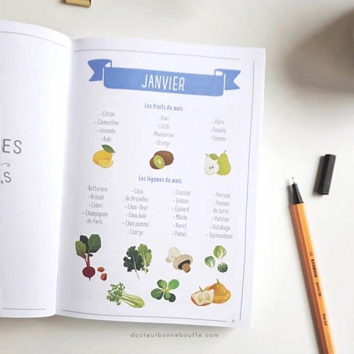 page fruits et légumes de saison