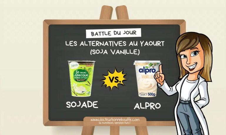 La battle du jour des alternatives végétales au yaourt soja vanille : Apro vs Sojade