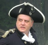 Doctor Hart on the field of battle (closeup)