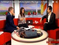 BBC Breakfast. Cardiologist explains why sugar is a threat to our health.