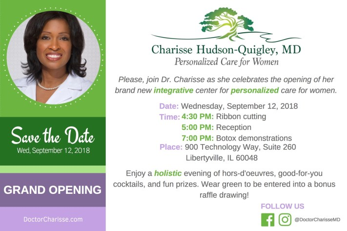 doctor charisse hudson-quigley open house invite