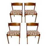 Set Of 4 Mid Century Modern Teak Wood Dining Chairs By Johannes Andersen Doctor Decorum