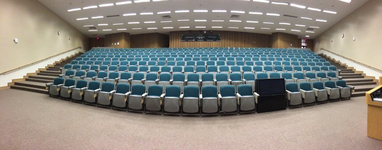 Learning at university: an image of a lecture hall