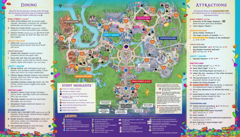On june 18, 2020, disney announced. Map For Mickey S Not So Scary Halloween Party 2018 Revealed Photos Doctor Disney