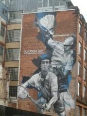 Badminton street art Glasgow 2014 Commonwealth Games