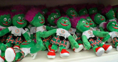 Cuddly Clydes in the Glasgow 2014 Commonwealth Games shop