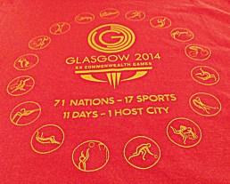 Glasgow 2014 Commonwealth Games tee-shirt logo