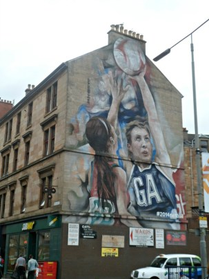 Netball street art Glasgow 2014 Commonwealth Games