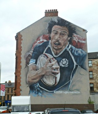 Rugby sevens street art Glasgow 2014 Commonwealth Games