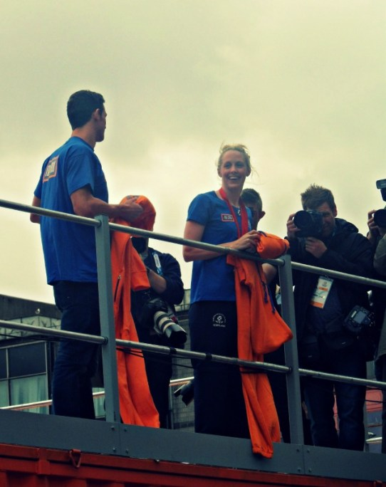 Team Scotland swimmers meet and greet Glasgow 2014
