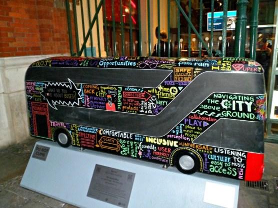Accessibus bus sculpture, London