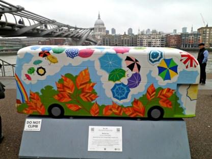 Brollybus bus sculpture, London