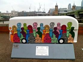Route Masters bus sculpture, London