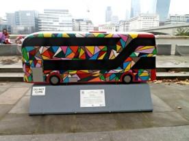 Spectrum bus sculpture, London